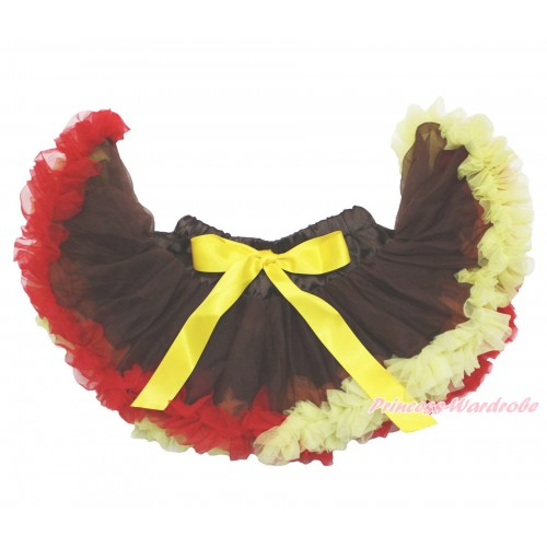 Thanksgiving Brown Red Yellow Mix NewBorn Pettiskirt N235