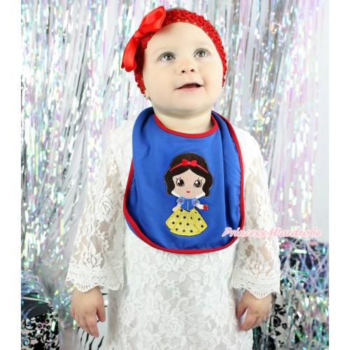 Royal Blue Baby Bib & Princess Snow White Print BI22