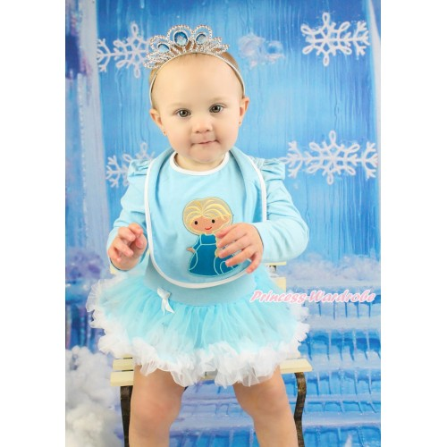 Frozen Light Blue Baby Bib & Princess Elsa Print BI26