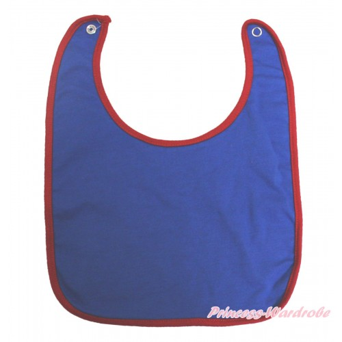 Plain Style Royal Blue Newborn Baby Bib BI28