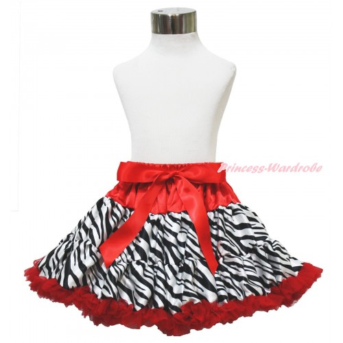 Red Zebra Pettiskirt P57