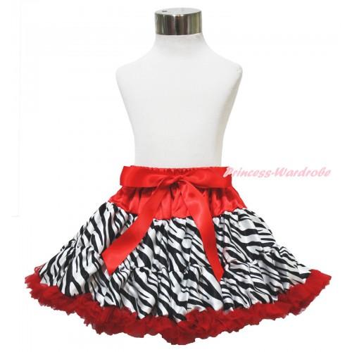 Red Zebra Pettiskirt P57