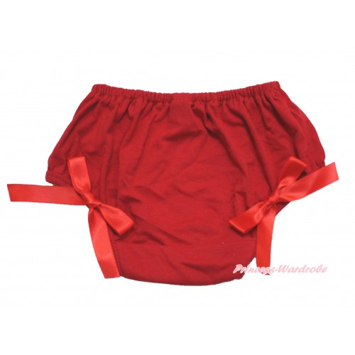 Hot Red Bloomer & Red Bow B113