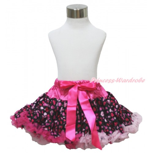 Hot Light Pink Sweet Heart Full Pettiskirt P120