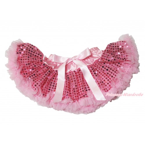 Light Pink Sparkle Bling Sequins Newborn Pettiskirt N240