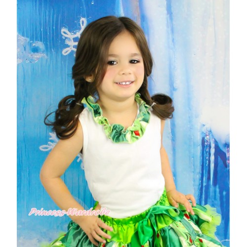 Frozen White Tank Top Anna Coronation Satin Lacing TB1031