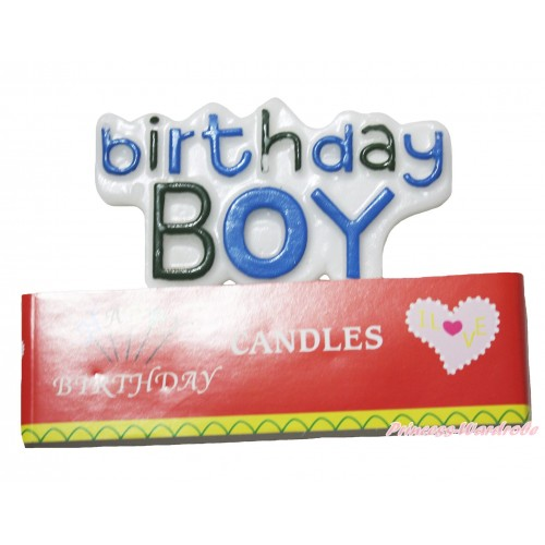 Blue Birthday Boy Party Decoration Candles HG128