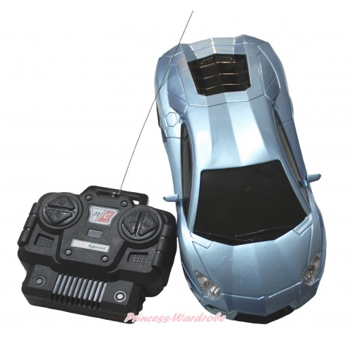 Silver Battery Remote Radio Control Racing Car Toy TY012