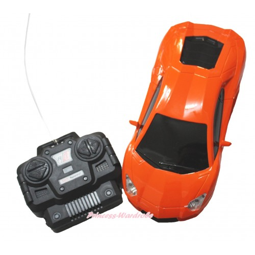 Orange Battery Remote Radio Control Racing Car Toy TY013