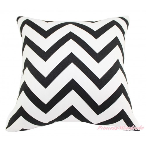 Black White Chevron Home Sofa Cushion Cover HG130