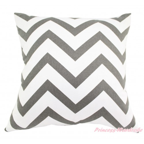 Grey White Chevron Home Sofa Cushion Cover HG131