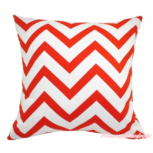 Orange White Chevron Home Sofa Cushion Cover HG132