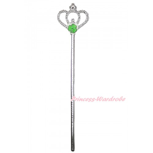 St Patrick's Day Clover Heart Crown Wand H983
