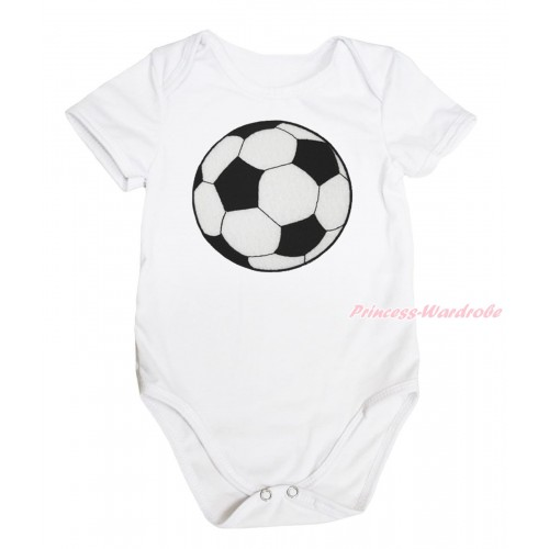 White Baby Jumpsuit & Football Print TH640