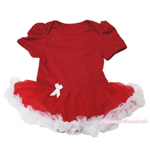 Red Baby Jumpsuit Red White Pettiskirt JS001
