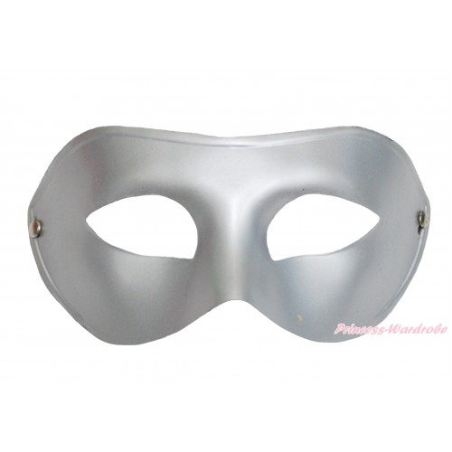 Mardi Gras Silver Grey Halloween Costume Face Eyes Mask C435