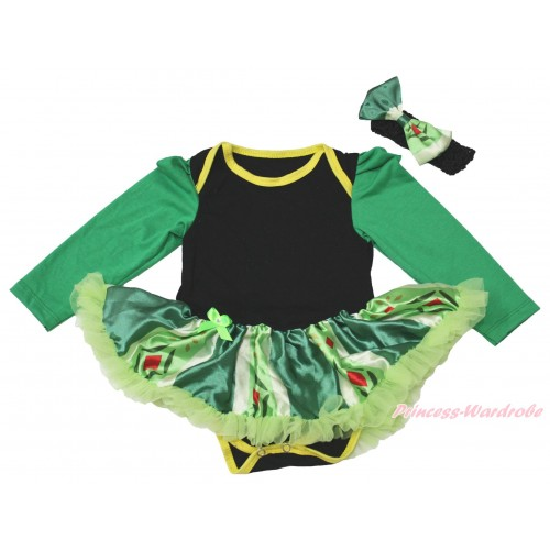 Black Long Sleeve Baby Bodysuit Anna Green Coronation Pettiskirt JS4433
