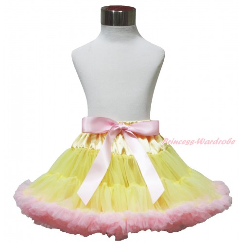 Yellow Light Pink Pettiskirt P202