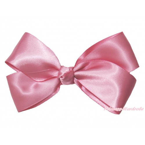 Dusty Pink Ribbon Bow Hair Clip H993