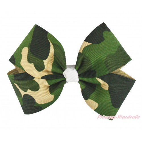 Camouflage Ribbon Bow Hair Clip H1013