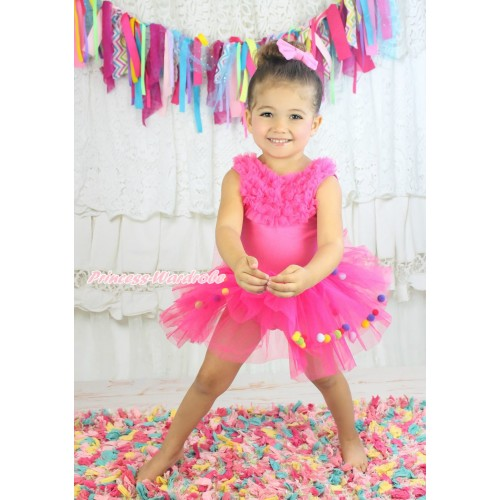 Hot Pink with Ruffles Ball Ballet Tutu B66
