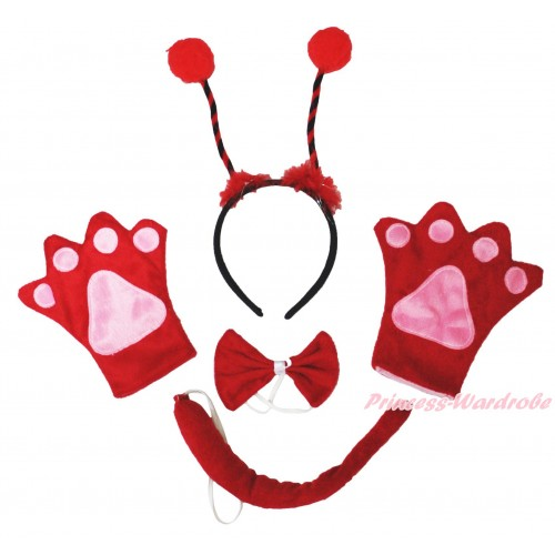 Beetle 4 Piece Set in Headband, Tie, Tail , Paw PC085