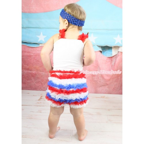 Red White Royal Blue Ruffles Pettishort PS012