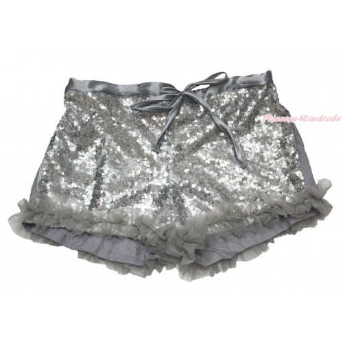 Grey Sparkle Bling Sequins Pettishort PS017