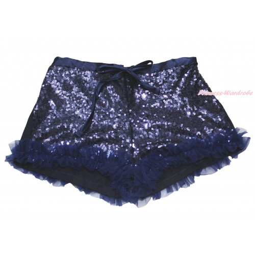 Navy Blue Sparkle Bling Sequins Pettishort PS018