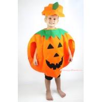 Halloween Pumpkin Orange One Piece Party Costume C406
