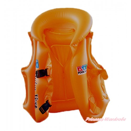 Orange Inflatable Life Jackets Water Sports Swim Vest SW88