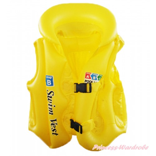 Yellow Inflatable Life Jackets Water Sports Swim Vest SW89