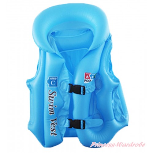 Blue Inflatable Life Jackets Water Sports Swim Vest SW90