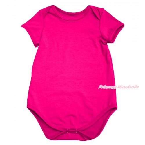 Plain Style Hot Pink Baby Jumpsuit TH103