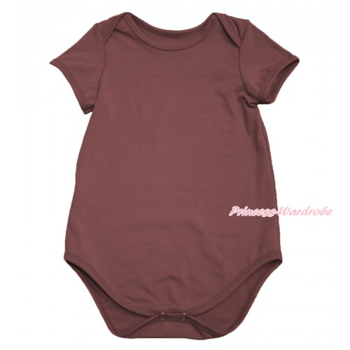 Plain Style Brown Baby Jumpsuit TH107