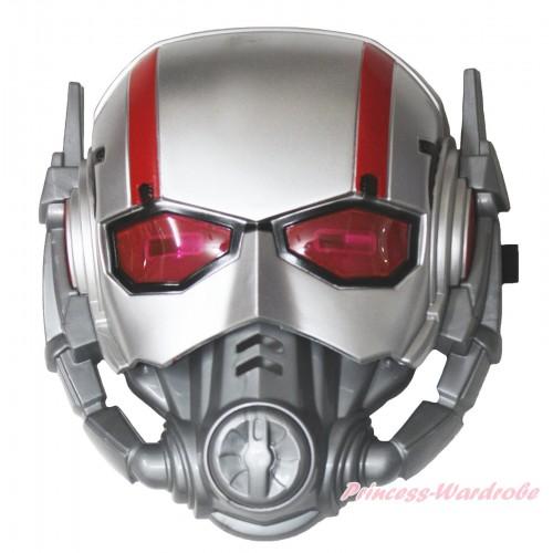 Ant man led light halloween costume face mask c412