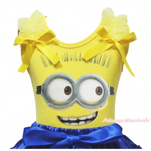 Yellow Tank Top & Ruffles & Bow Minion Painting TB1357