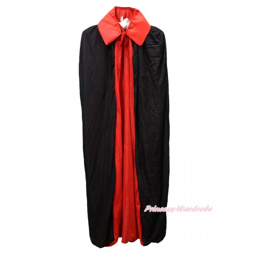 Red Black Vampire Bloodsucker Cape Halloween Costume C414