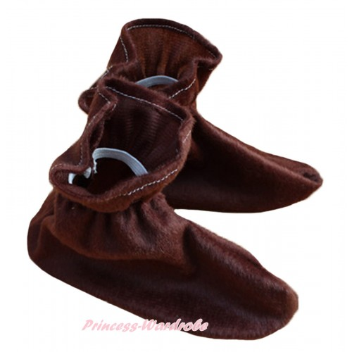 Animals Kids Brown Costume Shoes S658