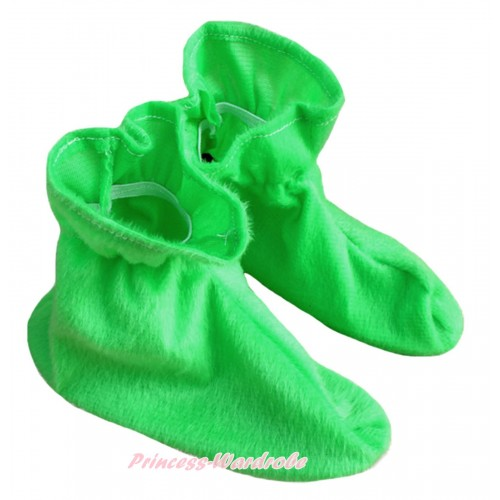 Animals Kids Light Green Costume Shoes S659