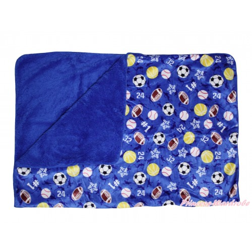 Royal Blue Balls Baby Swaddling Wrap Blanket BI56
