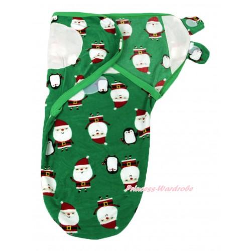 Santa Green Baby Swaddling Wrap Blanket BI62