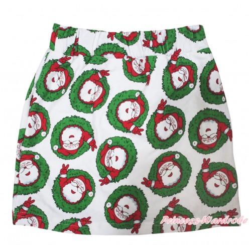 Xmas Santa Claus Girls Cotton Skirt P260