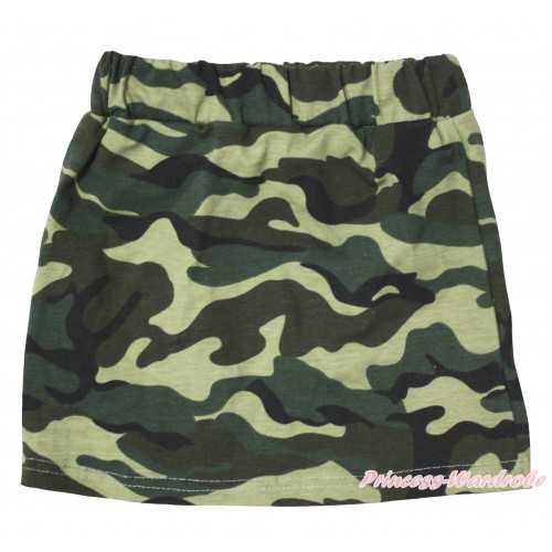 Camouflage Girls Cotton Skirt P265