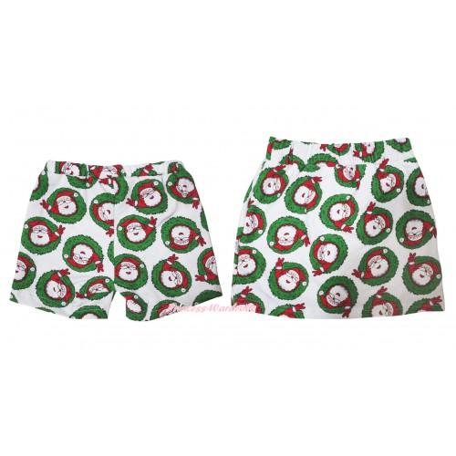 Xmas Santa Claus Cotton Short Panties & Skirt 2 Piece Set PS028