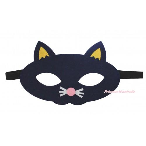 Black Cat Costume Face Eyes Mask C447