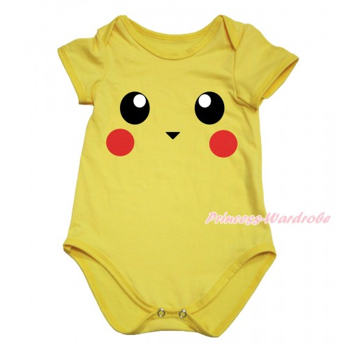 Yellow Baby Jumpsuit & Pikachu Print TH761