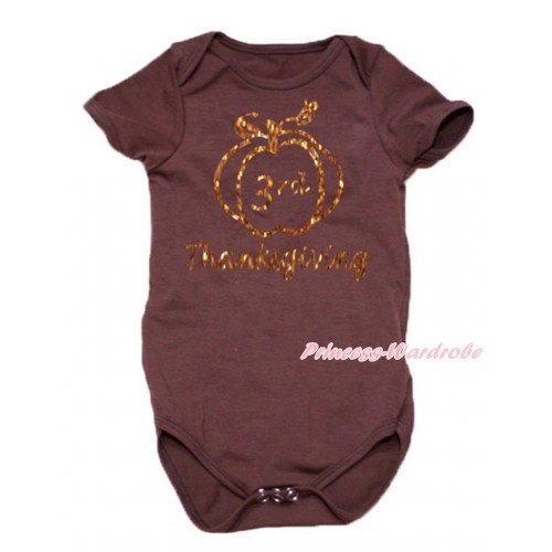 Thanksgiving Brown Baby Jumpsuit & Sparkle 3rd Thanksgiving Painting TH769