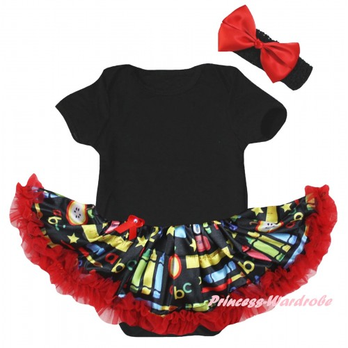 Black Baby Bodysuit Red Stationery Pettiskirt JS6775