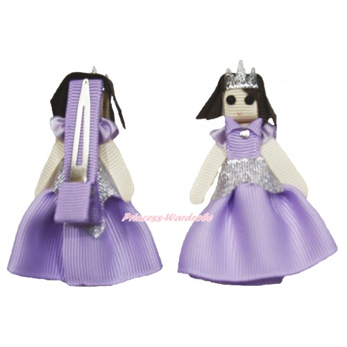 Princess Sofia Handmade Doll Ribbon Hair Clip H863